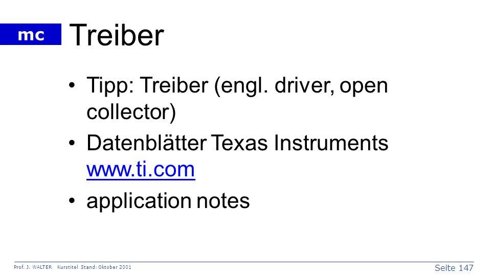 Treiber Tipp: Treiber (engl. driver, open collector)