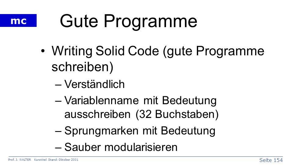 Gute Programme Writing Solid Code (gute Programme schreiben)