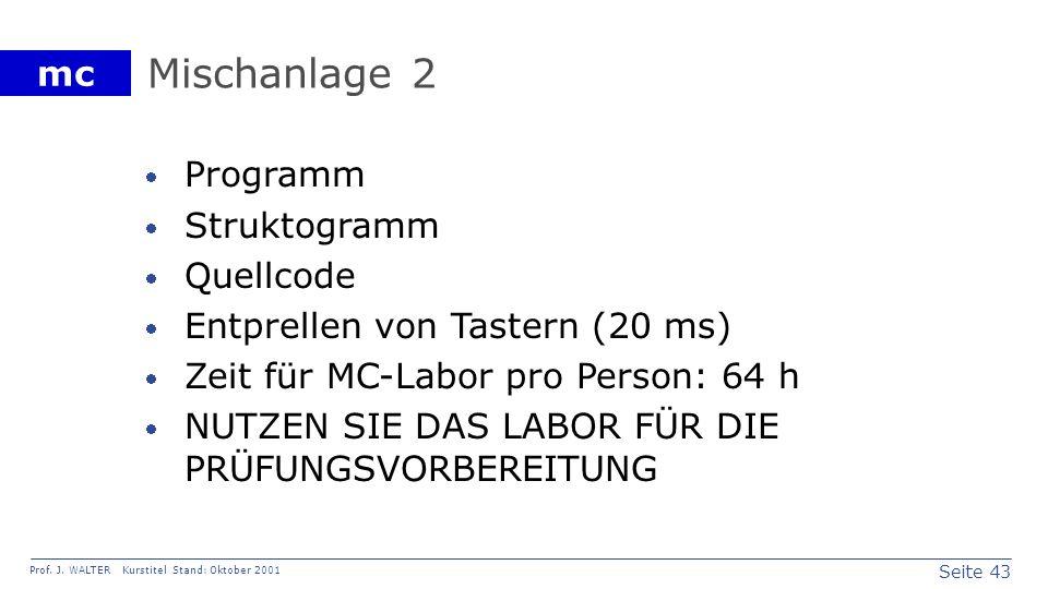Mischanlage 2 Programm Struktogramm Quellcode