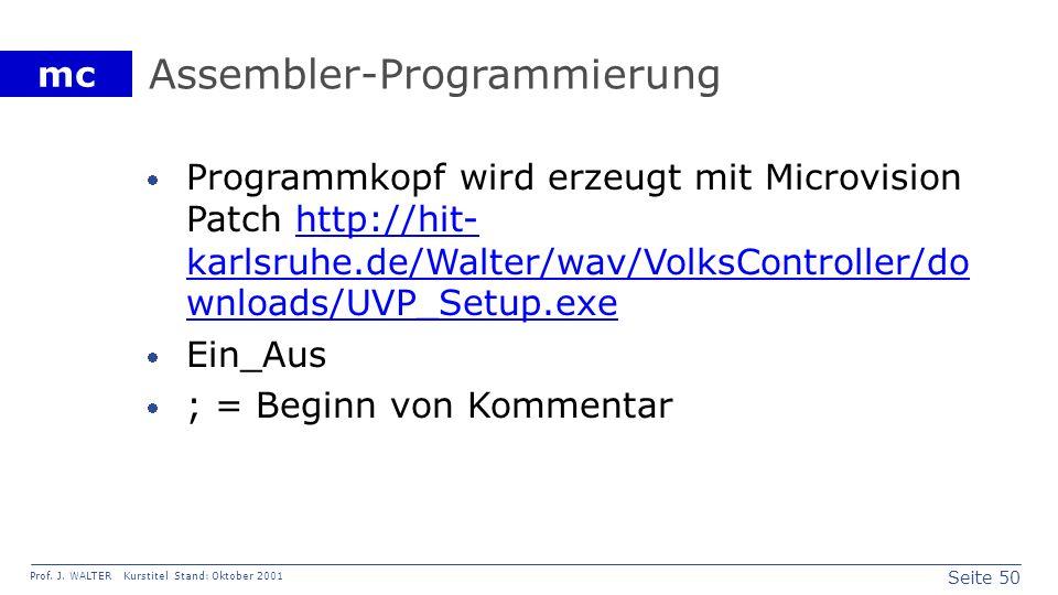 Assembler-Programmierung