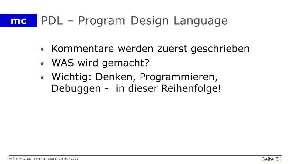 PDL – Program Design Language