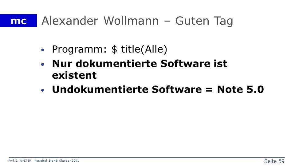 Alexander Wollmann – Guten Tag