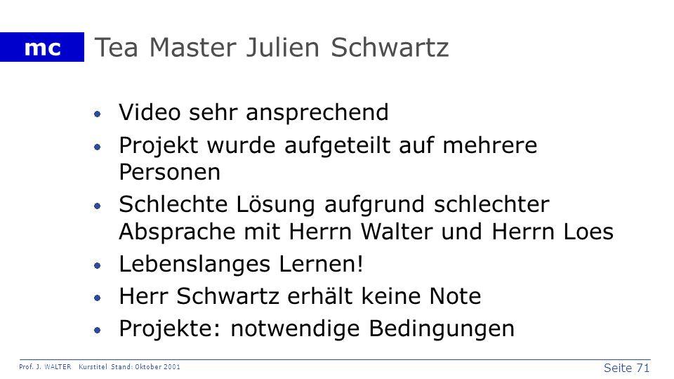Tea Master Julien Schwartz