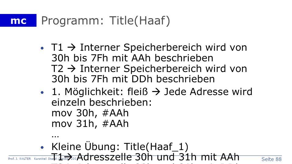 Programm: Title(Haaf)