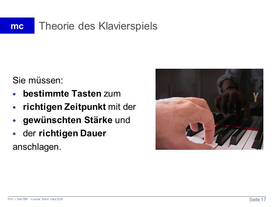 Theorie des Klavierspiels
