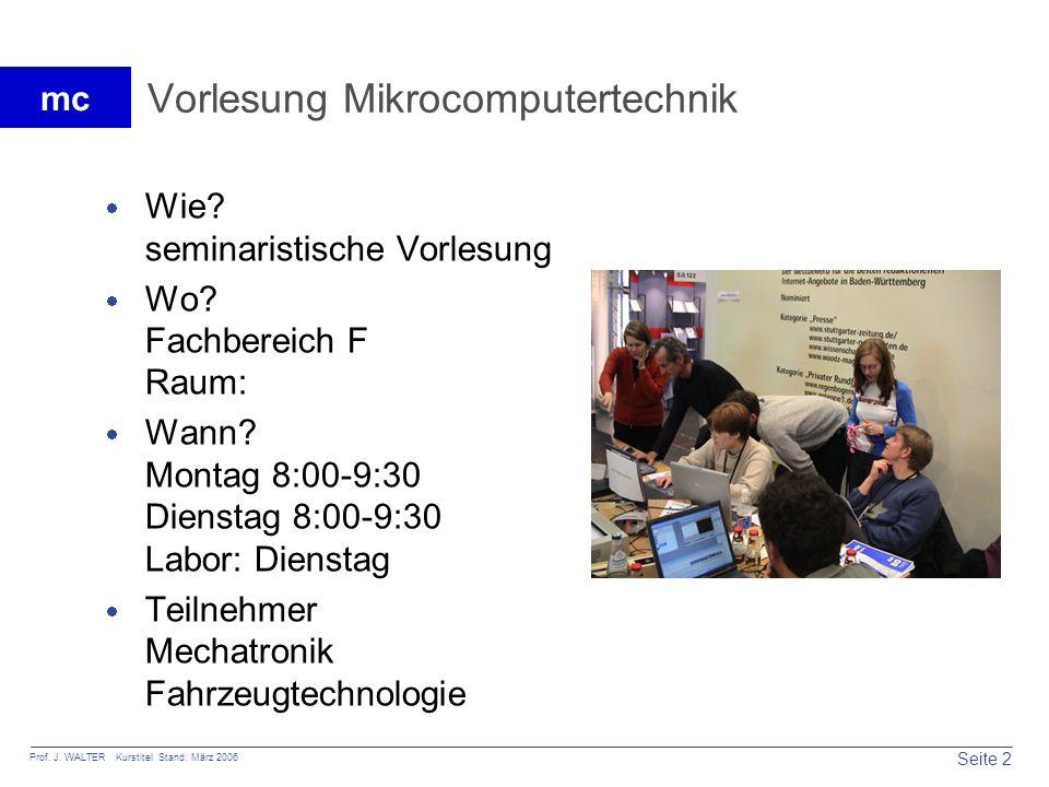 Vorlesung Mikrocomputertechnik