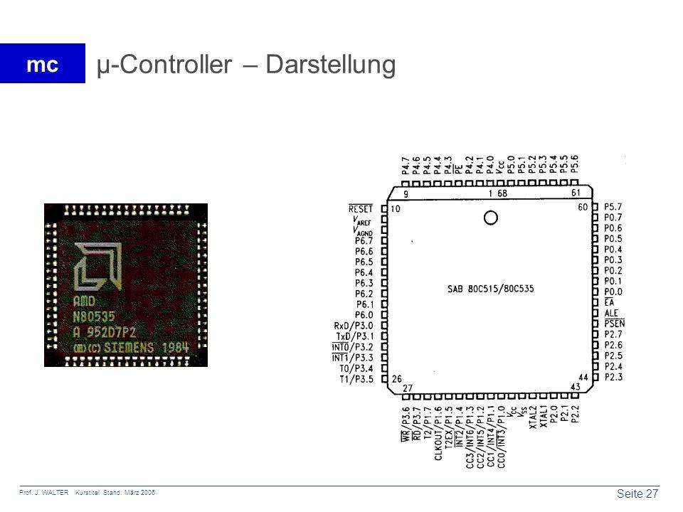 µ-Controller – Darstellung