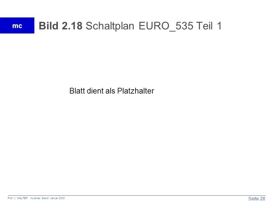Bild 2.18 Schaltplan EURO_535 Teil 1