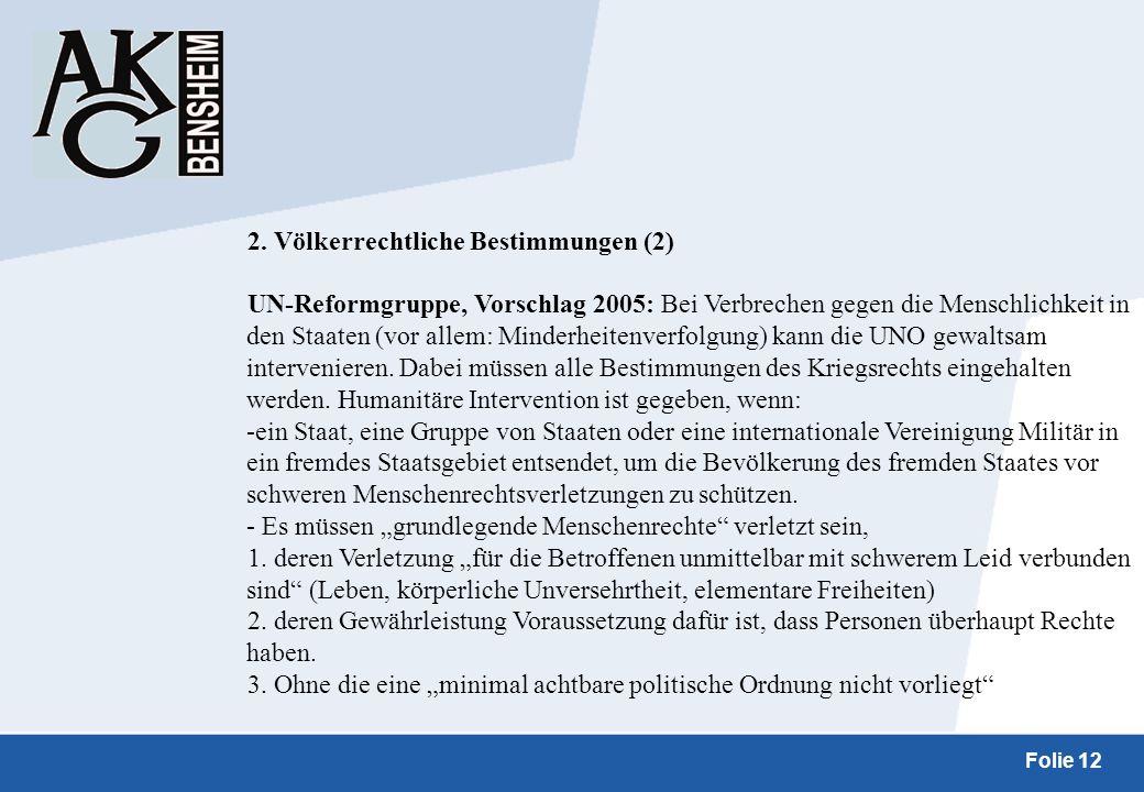 2. Völkerrechtliche Bestimmungen (2)