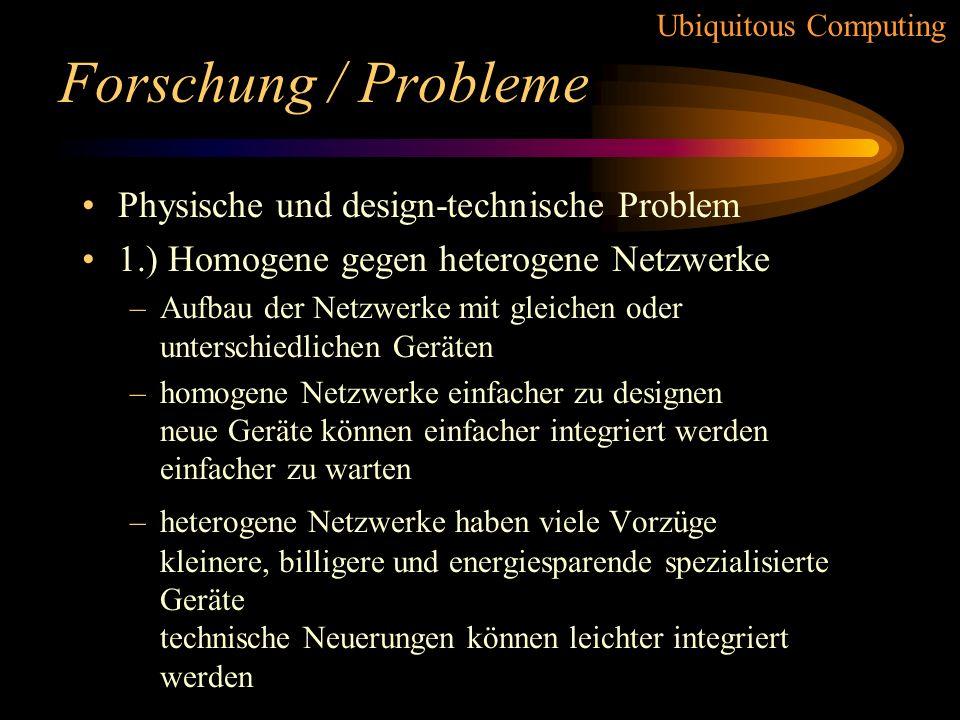 Forschung / Probleme Physische und design-technische Problem