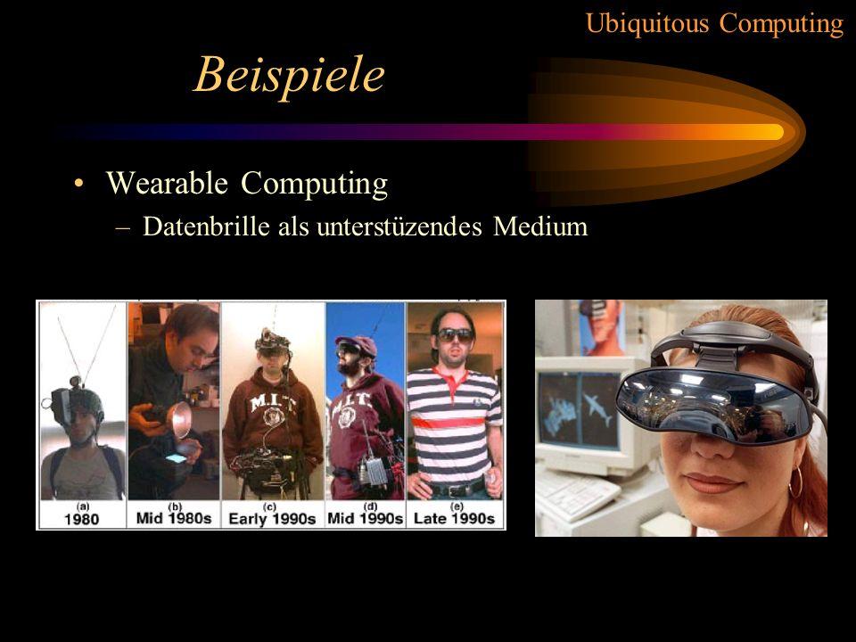 Beispiele Wearable Computing Datenbrille als unterstüzendes Medium