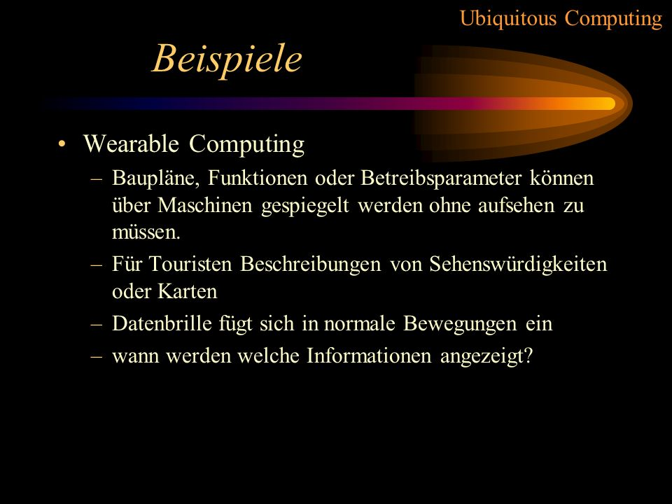 Beispiele Wearable Computing
