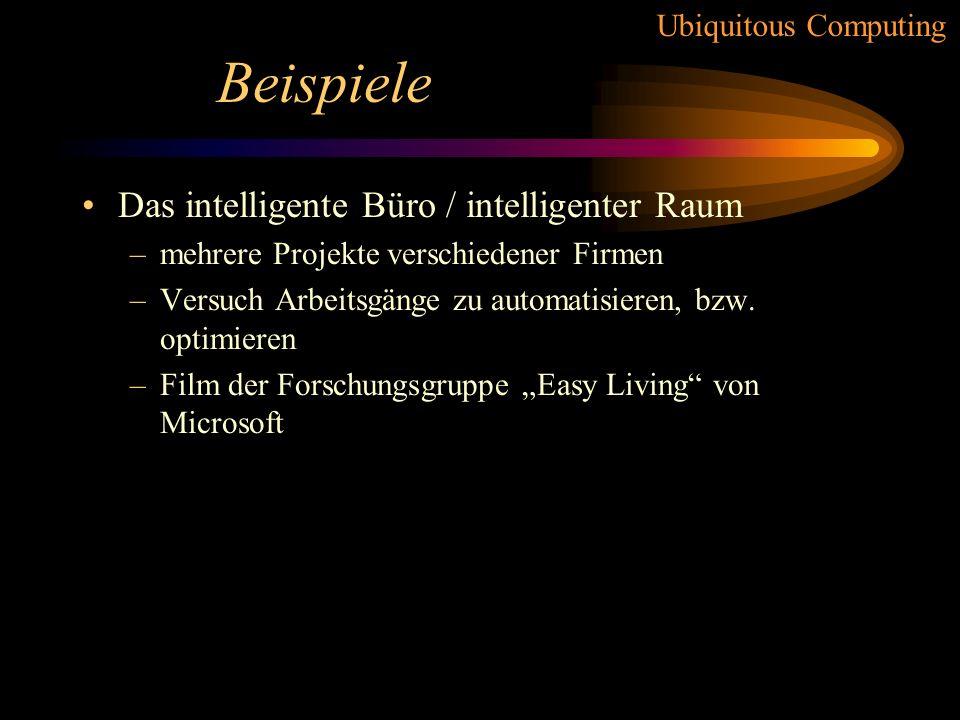 Beispiele Das intelligente Büro / intelligenter Raum