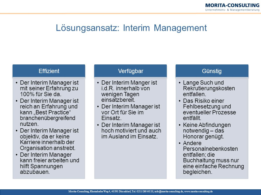 Lösungsansatz: Interim Management