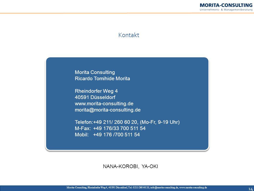 Kontakt Morita Consulting Ricardo Tomihide Morita Rheindorfer Weg 4