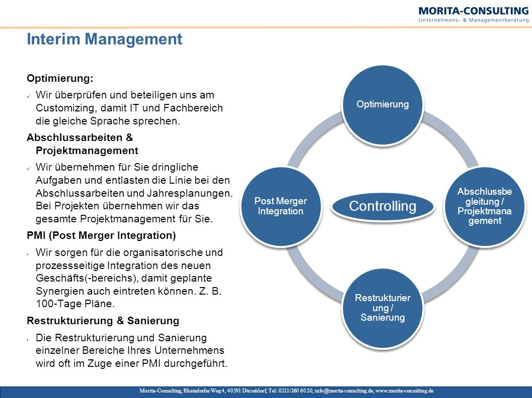 Interim Management Optimierung: