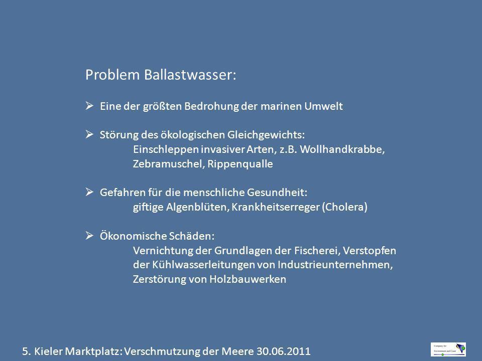 Problem Ballastwasser: