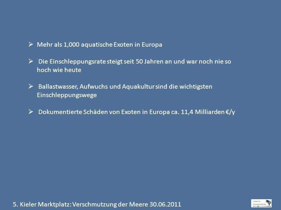 Mehr als 1,000 aquatische Exoten in Europa