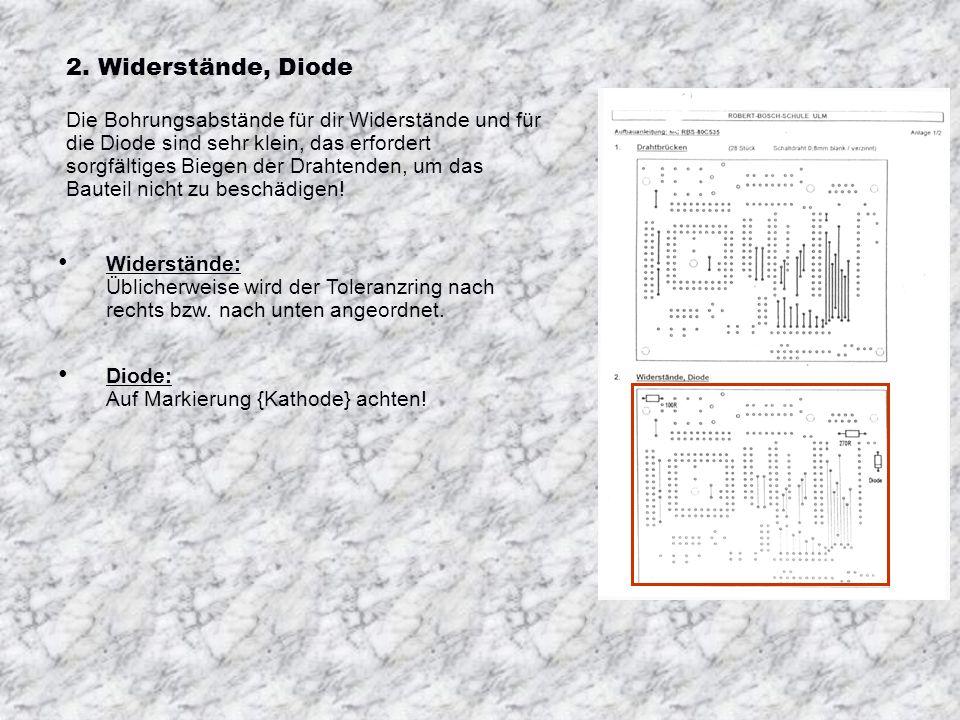 2. Widerstände, Diode