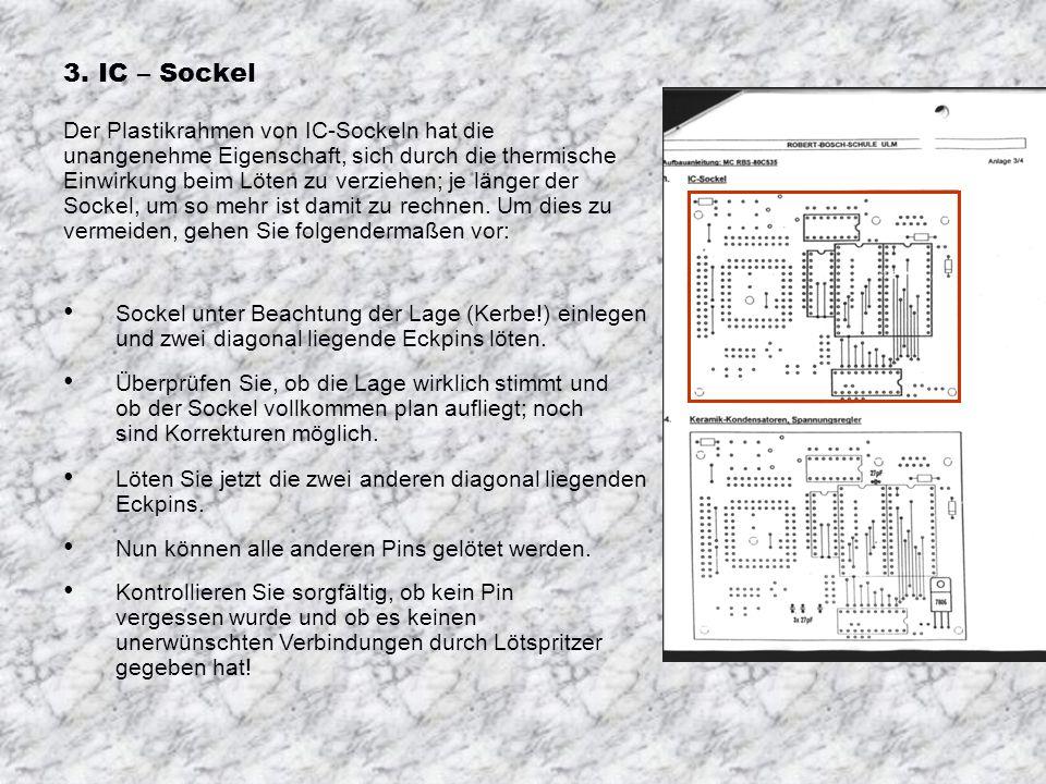 3. IC – Sockel