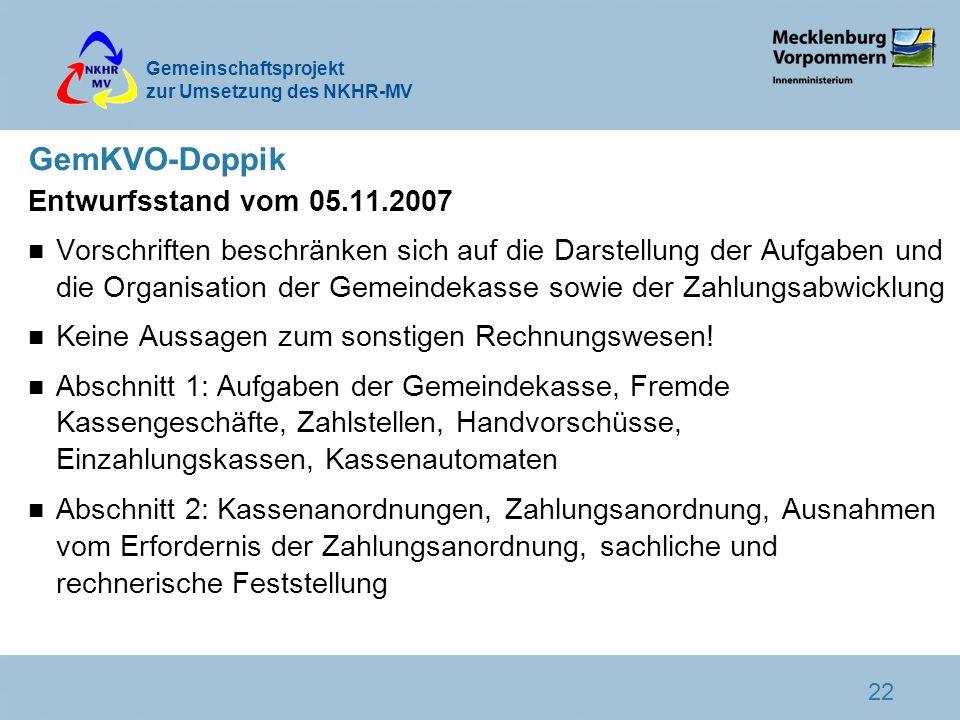 GemKVO-Doppik Entwurfsstand vom 05.11.2007
