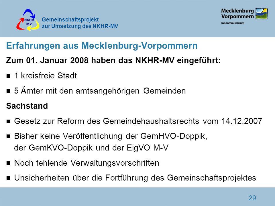 Erfahrungen aus Mecklenburg-Vorpommern
