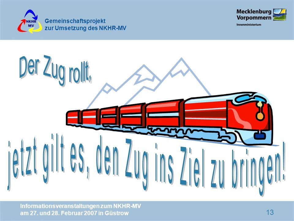 jetzt gilt es, den Zug ins Ziel zu bringen!