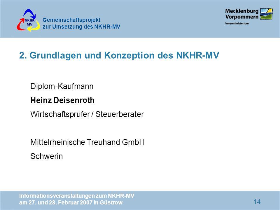 2. Grundlagen und Konzeption des NKHR-MV
