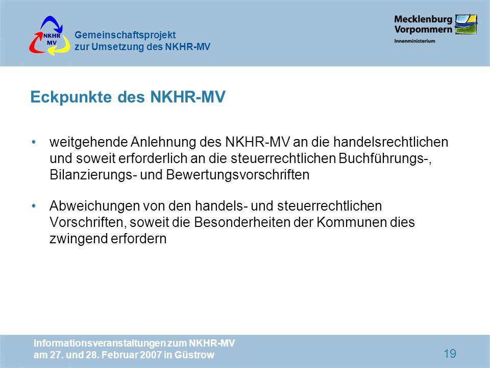 Eckpunkte des NKHR-MV