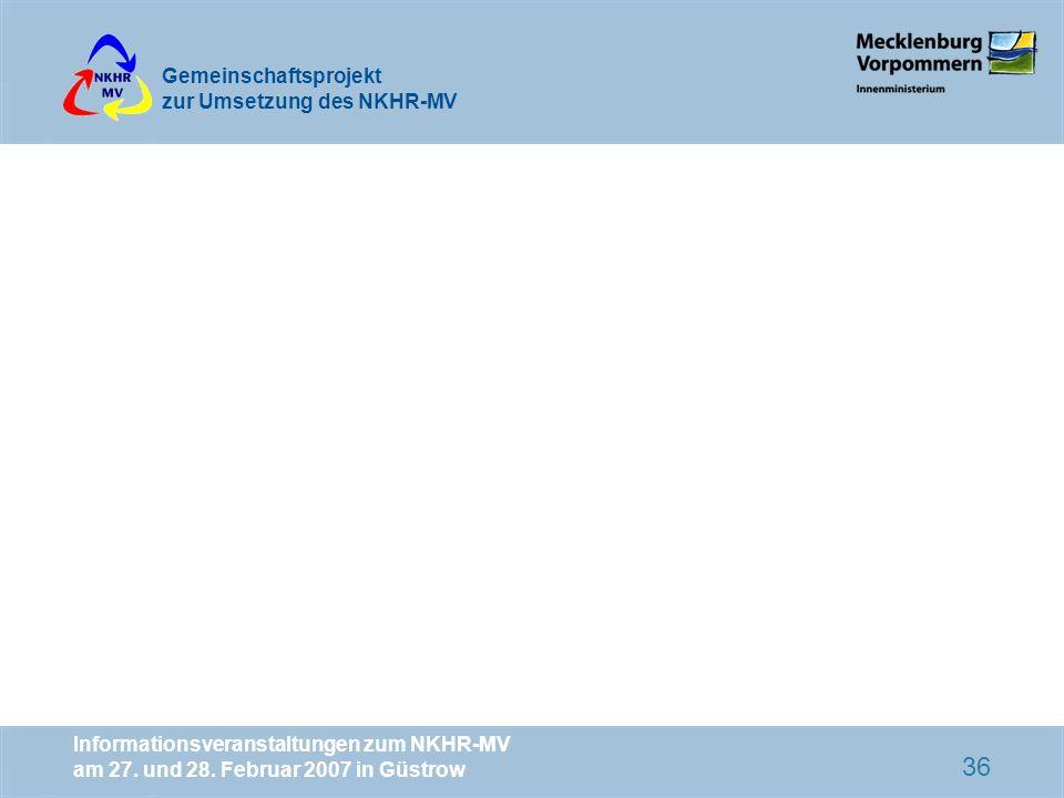 Informationsveranstaltungen zum NKHR-MV am 27. und 28