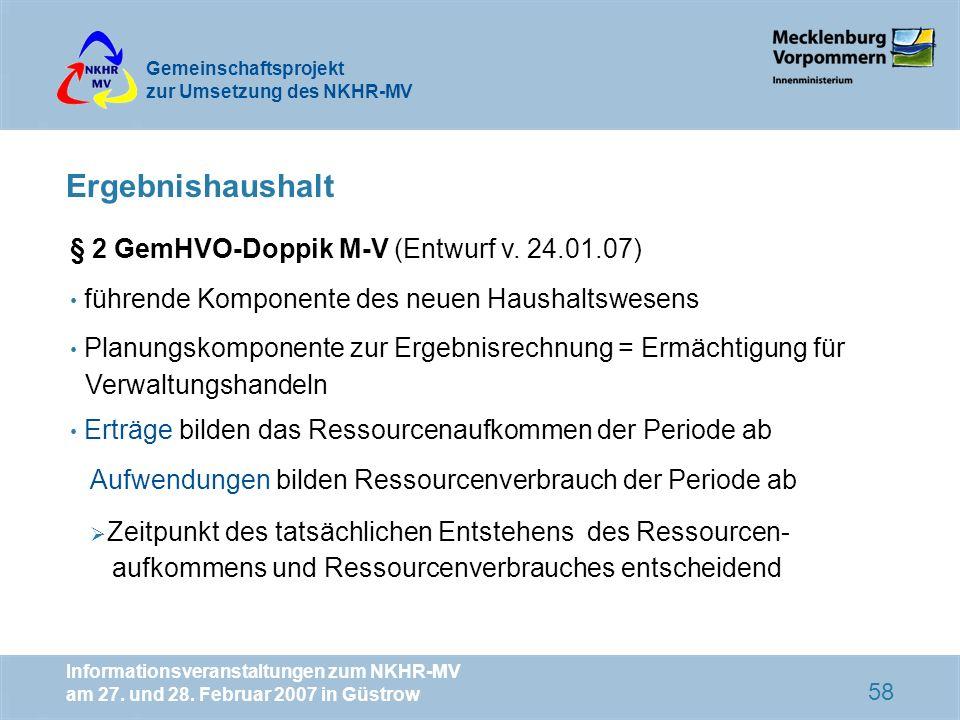 Ergebnishaushalt § 2 GemHVO-Doppik M-V (Entwurf v. 24.01.07)