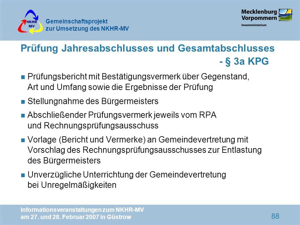 Prüfung Jahresabschlusses und Gesamtabschlusses - § 3a KPG