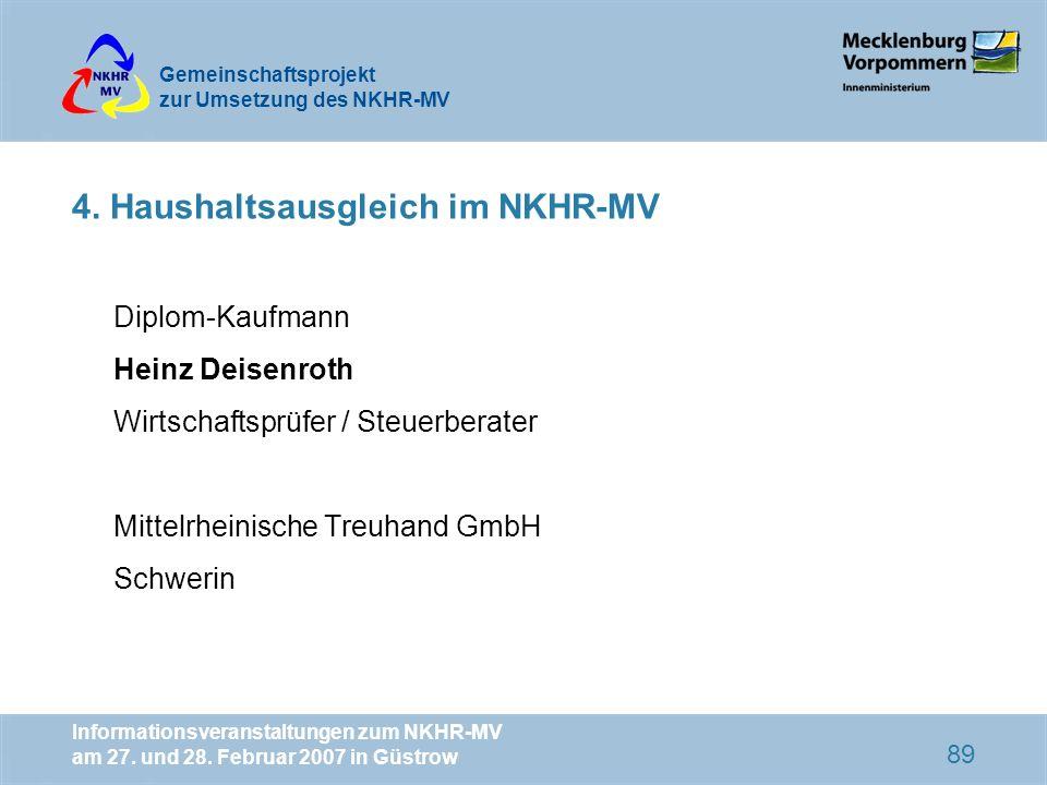 4. Haushaltsausgleich im NKHR-MV