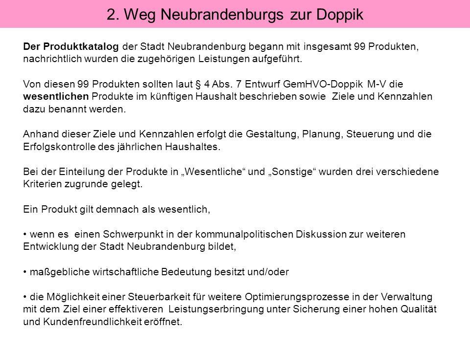 2. Weg Neubrandenburgs zur Doppik