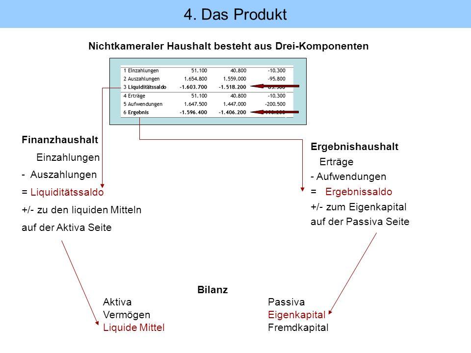 4. Das Produkt Nichtkameraler Haushalt besteht aus Drei-Komponenten
