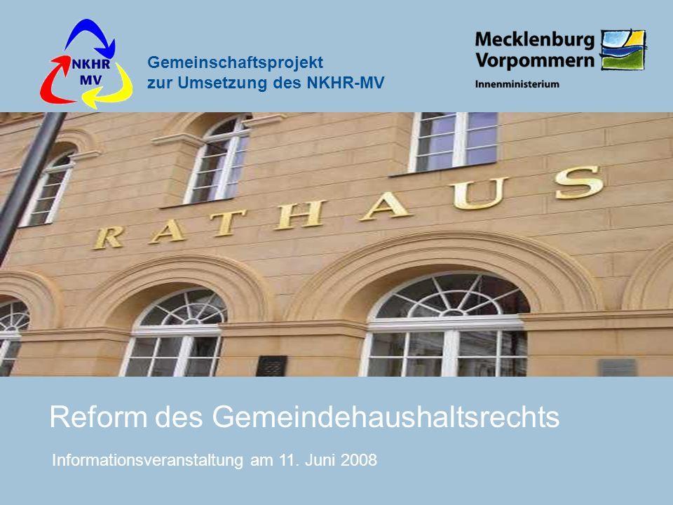 Reform des Gemeindehaushaltsrechts