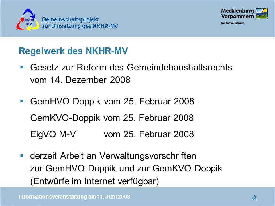 Gesetz zur Reform des Gemeindehaushaltsrechts vom 14. Dezember 2008