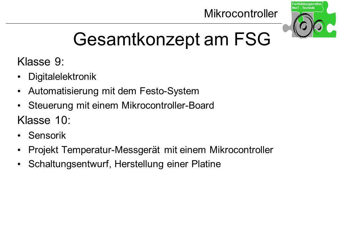 Gesamtkonzept am FSG Klasse 9: Klasse 10: Digitalelektronik