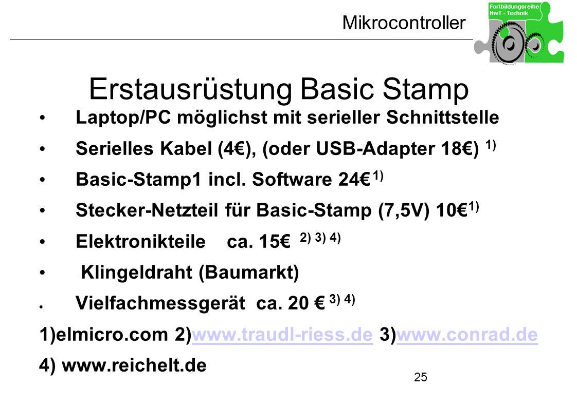 Erstausrüstung Basic Stamp
