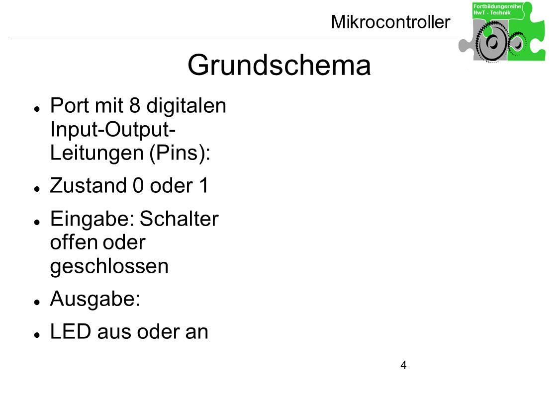Grundschema Port mit 8 digitalen Input-Output- Leitungen (Pins):