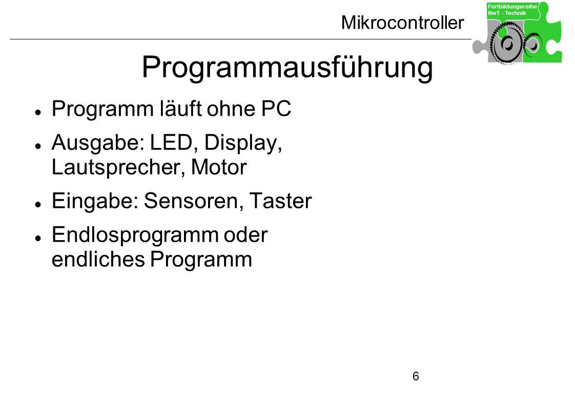 Programmausführung Programm läuft ohne PC