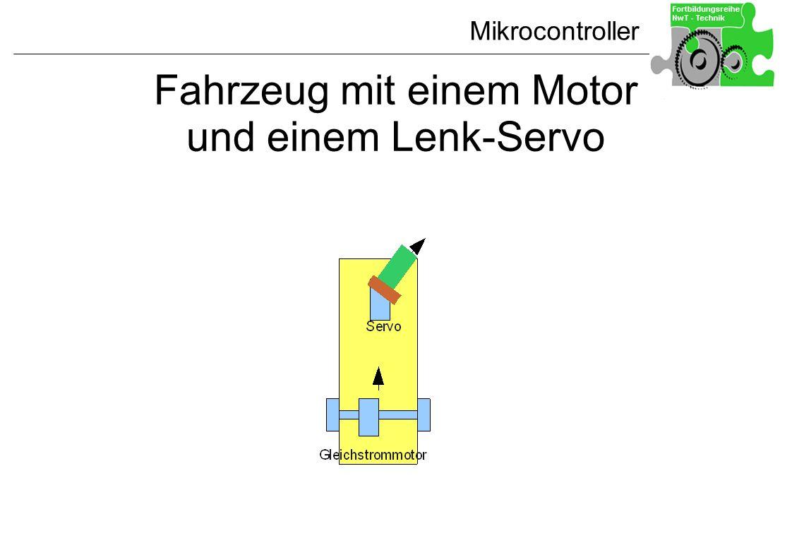 Fahrzeug mit einem Motor und einem Lenk-Servo