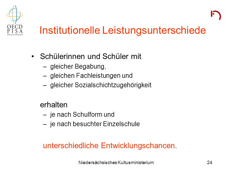Institutionelle Leistungsunterschiede