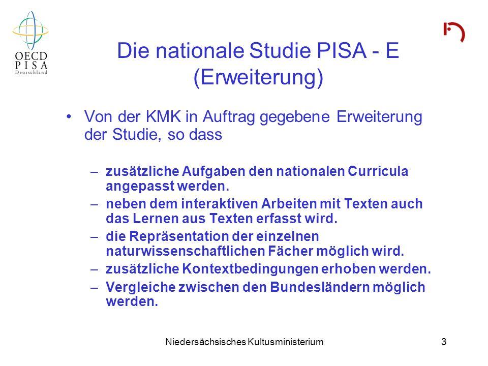Die nationale Studie PISA - E (Erweiterung)