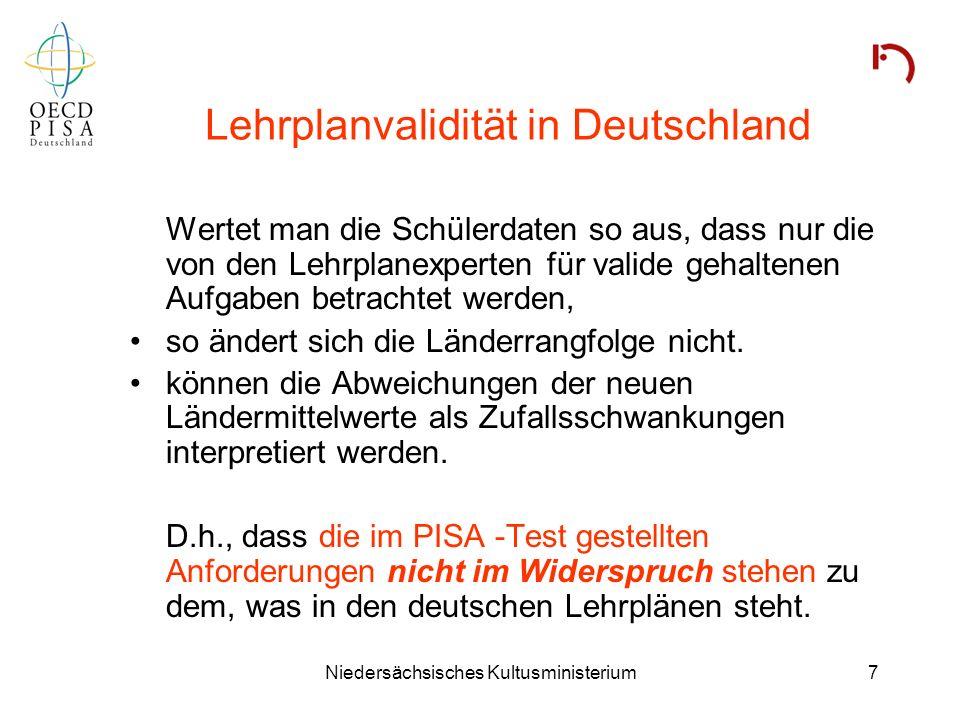 Lehrplanvalidität in Deutschland