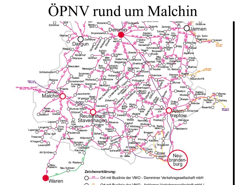 ÖPNV rund um Malchin