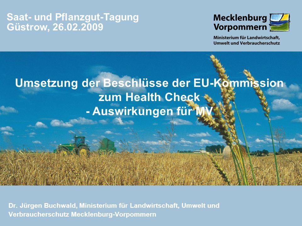 Saat- und Pflanzgut-Tagung Güstrow, 26.02.2009
