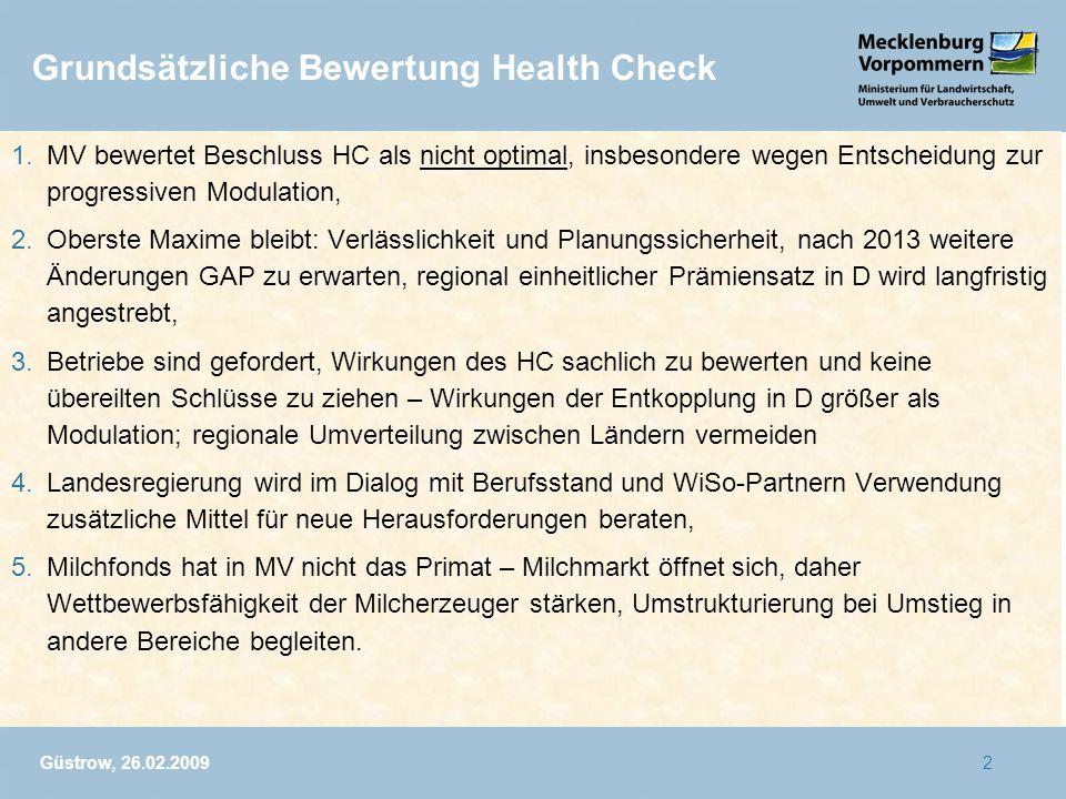 Grundsätzliche Bewertung Health Check
