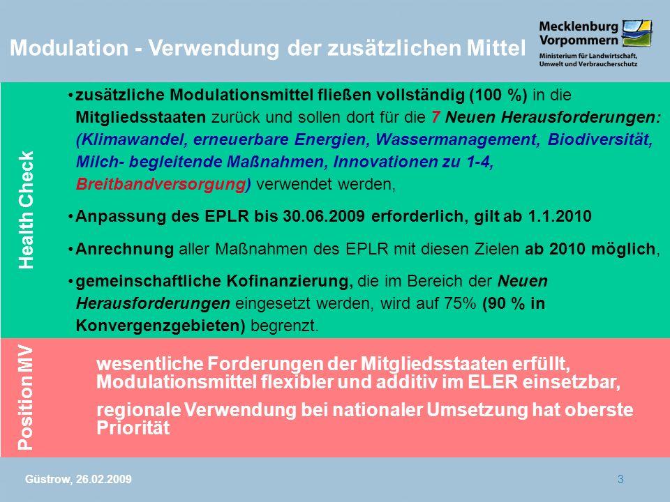 Modulation - Verwendung der zusätzlichen Mittel