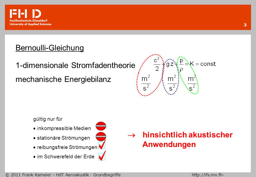 1-dimensionale Stromfadentheorie